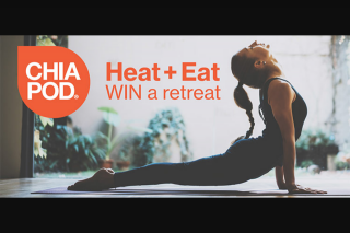 Chia Pod Heat Eat – Win a Retreat Package for Two to Sunny Byron Bay Valued at Approx $4000 (prize valued at $4,000)