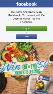 De Costi Seafood – Win One of Two $50 Woolworth's Gift Cards (prize valued at $100)