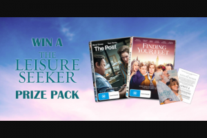 Dendy – Win a Great Prize Pack to Celebrate The Release of The Leisure Seeker