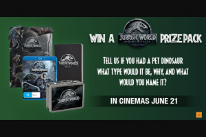 Dendy – Win an Awesome Prize Pack to Celebrate The Release of Jurassic World