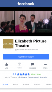 Elizabeth Picture Theatre – Posted Sunday 6pm