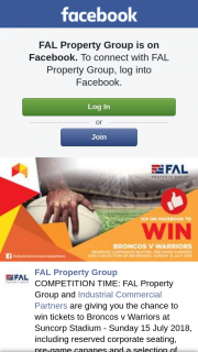 FAL Property Group – Tickets to Broncos V Warriors at Suncorp Stadium