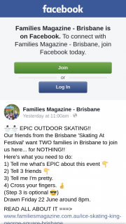 Families magazine Brisbane – Win One of Two Family Passes to Skating at Festival Brisbane