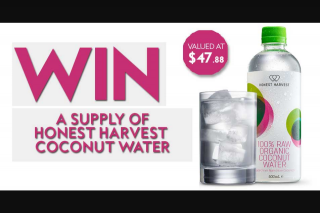 Fashion Weekly – Win Your Own Supply of 100% Raw Organic Coconut Water (prize valued at $47.88)