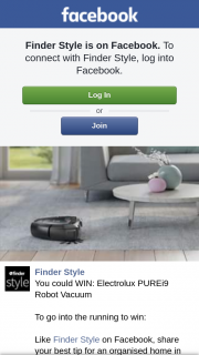 Finder Style – Win Electrolux Purei9 Robot Vacuum (prize valued at $1,699)