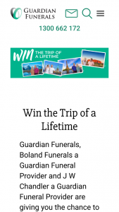 Guardian Funerals – Win The Trip of a Lifetime to Create Lasting Memories (prize valued at $10,000)