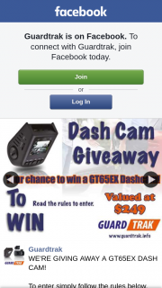 Guardtrak GIVING AWAY a GT65EX DASH CAM – a Gt65ex Dash Cam (prize valued at $249)