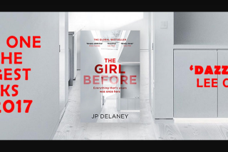 Hachette – Will Receive a Copy of Jp Delaney's The Girl Before