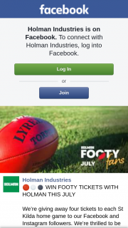 Holman – Win Footy Tickets With Holman this July