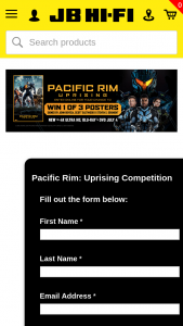 JB Hi-Fi – Terms and Conditions (prize valued at $450)