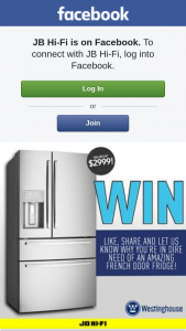 JB HiFi – Win a Westinghouse French Door Fridge With Smart Split Door Design