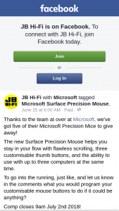 JB HiFi – Win One of Five Microsoft Precision Mice