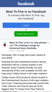 Mum to Five – Win a Huge Prize Pack Valued at Over $200