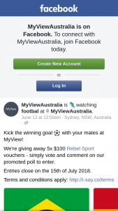 MyView Australia – 5x $100 Rebel Sport Vouchers (prize valued at $500)