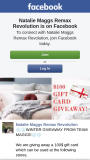 Natalie Maggs Remax Revolution – Win a $100 Gift Card