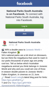 National Parks South Australia – Win a Double Pass to Jurassic World – fallen Kingdom