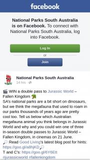 National Parks South Australia – Win a Double Pass to Jurassic World – fallen Kingdom