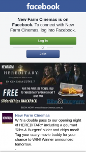New Farm Cinemas – Win a Double Pass to Our Opening Night of Hereditary Including a Gourmet 'ribs & Burgers' Slider and Chips Meal