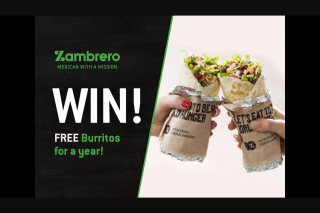 Nova 93.7 – Win a Year's Supply of Fresh and Delicious Burritos