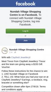 Nundah Village – Win a $150 Clayfield Jewellery Voucher
