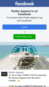 Parkie Apparel – Win a Trip to The Beautiful Great Keppel Island