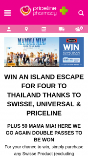 Priceline – Swisse – Win a Major Prize Trip for Four (4) People to Phuket (prize valued at $10,500)
