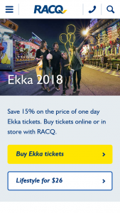 RACQ – Win an Ekka Prize Pack Valued at $2610. (prize valued at $2,610)