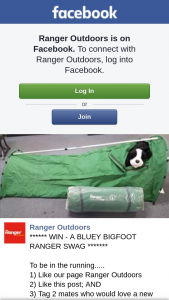 Ranger Outdoors Bentley – Win a New Swag