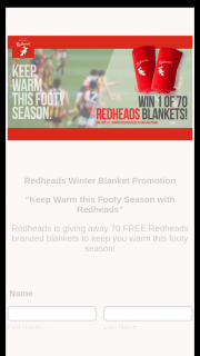 Redheads giving away 70 FREE Redheads branded blankets – Competition