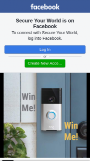 Secure Your World – Win a Ring Doorbell (prize valued at $300)