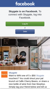 Skygate Shopping Centre – Win One of 5 X $50 Skygate Vouchers (prize valued at $250)