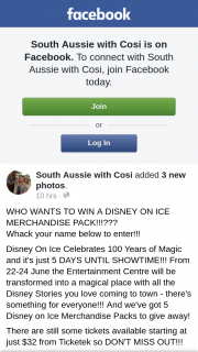 South Aussie with Cosi – Win a Disney on Ice Merchandise Pack??