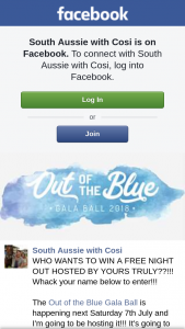 South Aussie With Cosi – Win a Free Night Out Hosted By Yours Truly?