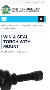 ssaa – Win a Seal Torch With Mount (prize valued at $304)