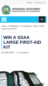 ssaa – Win a Ssaa Large First-Aid Kit (prize valued at $64.95)