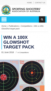 ssaa – Win a 100x Glowshot Target Pack (prize valued at $82.85)