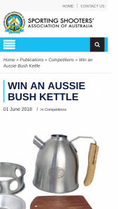 ssaa – Win an Aussie Bush Kettle (prize valued at $129.95)