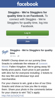 Steggles giving away 50 family prize packs for Jurassic World Fallen Kingdom – 50 Family Prize Packs (prize valued at $90)