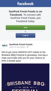 SunPork Fresh Foods – Win a Double Pass