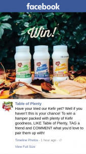 Table of Plenty – Win a Hamper Packed With Plenty of Kefir Goodness