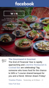 The Gourmand & Gourmet – Win a 7-course Shared Banquet for You and a Friend