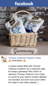 Thomas Chipman Organic Chips – Win a Box of Delicious Thomas Chipman Corn Chips to Munch to Your Heart's Content