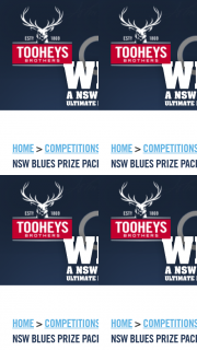 Tooheys – Win 1 of 10 Nsw Blues Ultimate Prize Packs (prize valued at $1,080)