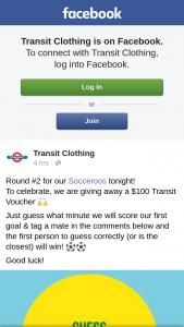 Transit Clothing – a $100 Transit Voucher &#128588
