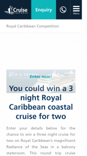 'win a Cruise' Facebook Promotion &#823211/06/2018 – 24/06/2018&#8232 (prize valued at $2,000)
