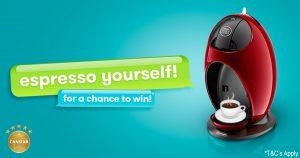 Canstar – Expresso Yourself – Win a Nescafe Dolce Gusto Jovia Coffee machine