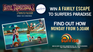 Channel 7 – Sunrise – Big Monstruous Family – Win a family escape for 4 to Surfers Paradise