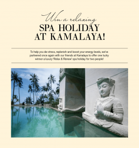 Healthy Chef – Win a luxury getaway to Kamalaya for 5 nights for 2 valued at $6,500