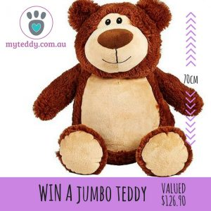My Teddy – Win a Jumbo Teddy valued at over $129