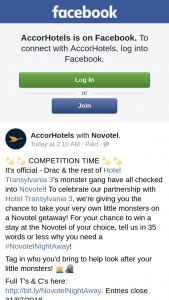 Accor Hotels – Win a Stay at The Novotel of Your Choice (prize valued at $2,400)